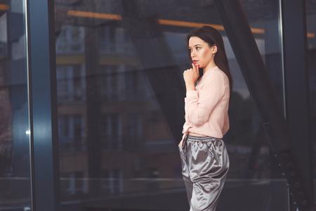 Pensive woman portrait Stockfoto