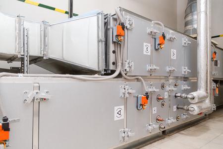 Industrial ventilation handling unit. Recirculation system appliance
