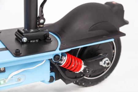 Rear wheel electric scooter and shock absorber. Stock fotó