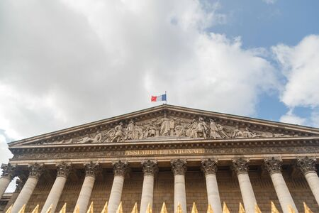 The National Assembly (Assemblee nationale) is the lower house of the Parliament of France. The official seat of the National Assembly is the Palais Bourbon on the banks of the river Seine. Paris