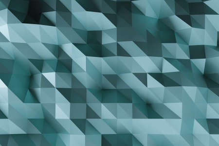 Abstract faceted geometric blue background.