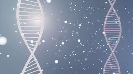 Digital illustration DNA structure in colour background. 3d render