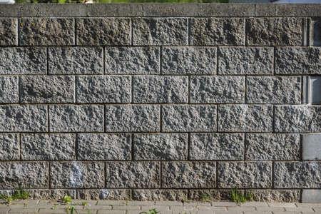 Besser wall made of concrete blocks