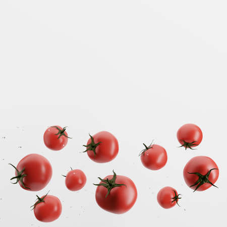 fresh tomatoes isolated on white background Standard-Bild