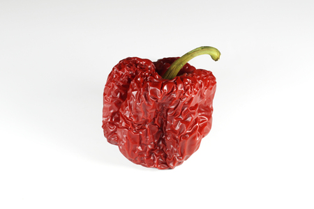 The process of aging food, old wrinkled peppers