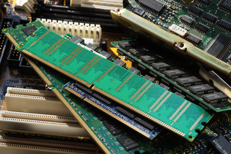 Valuable secondary raw materials: electronic components, pc components: motherboards, disks, RAM memory, etc.
