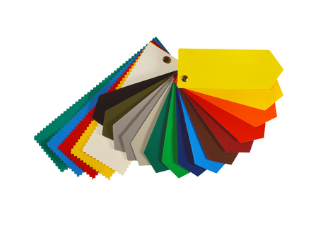 Advertisement. Color chart of one of the most popular advertising media: PVC coated banner. Stock Photo