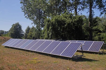 Free energy from the sun. Backyard small solar farm.