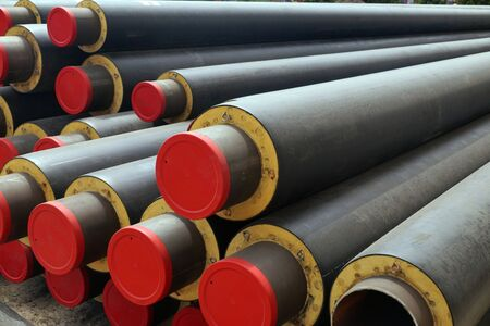 Hydraulic shop, heating pipes with different diameters.