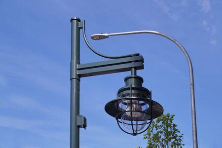 Kirkland City, modern, LED, energy-saving street lighting. Washington state.