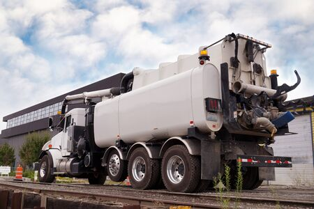 Vacuum Truck and Sewer Cleaner. Truck dedicated for catch basin cleaner.