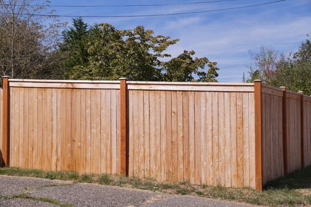 The house is fenced with a new wooden fence. Private area.