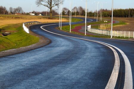 New surface, lighting and bike paths. A newly built local road.