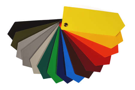 Advertisement. Color chart of one of the most popular advertising media: PVC coated banner. Standard-Bild