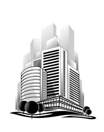 borough: Vector illustration of modern city 3D