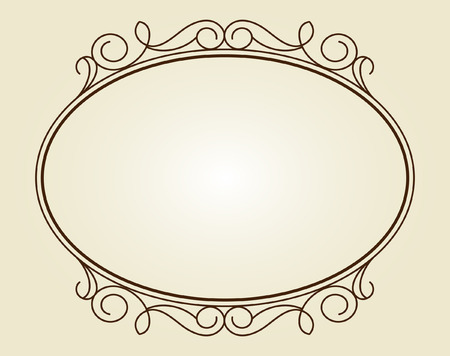 built: Decorative frames .Vintage vector.Well built for easy editing.Brown.