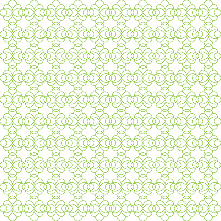 Vector pattern with art ornament. Elements for design. Ornamental lace tracery background. Green white. Çizim