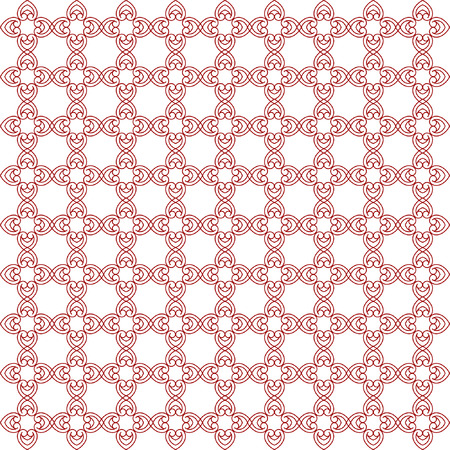 Vector seamless pattern with art ornament. Elements for design. Ornamental lace tracery background. Endless texture.