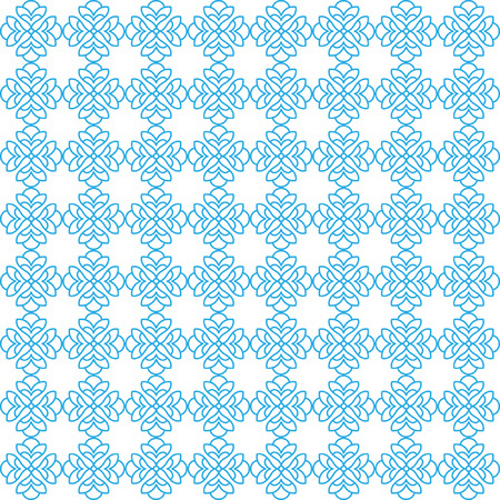 Vector seamless pattern with art ornament. Elements for design. Ornamental lace tracery background. Endless texture.Blue white.