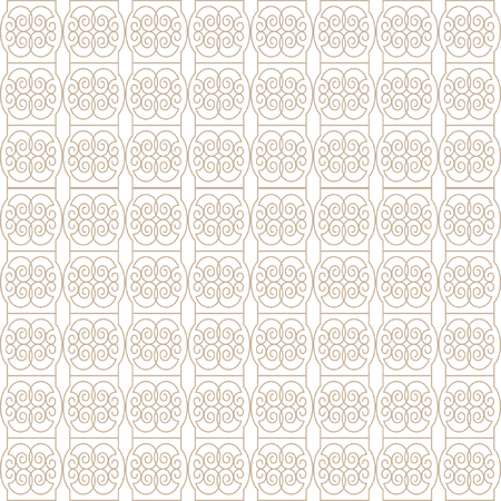 Vector pattern with art ornament. Elements for design. Ornamental lace tracery background .Beige white. Çizim