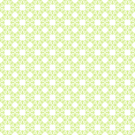 Vector pattern with art ornament. Elements for design. Ornamental lace tracery background. Yellow-green white.