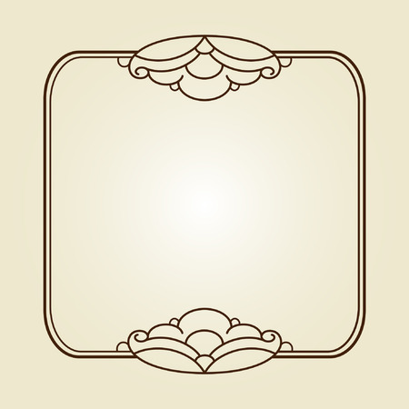 cartouche: Decorative frames .Vintage vector.Well built for easy editing.Brown.