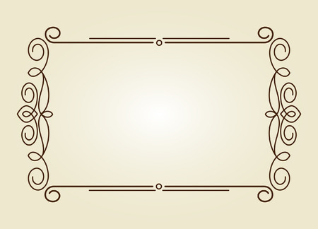 calligraph: Decorative frames .Vintage vector.Well built for easy editing.Brown.