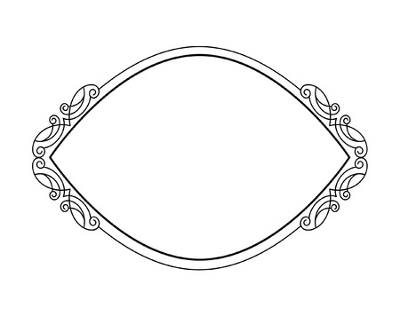 calligraph: Decorative frames .Vintage vector.Well built for easy editing.