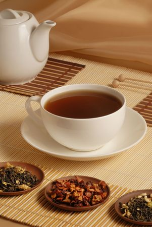 favourable: Black tea in white cup