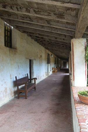 passageway: Carmel mission, California - passageway