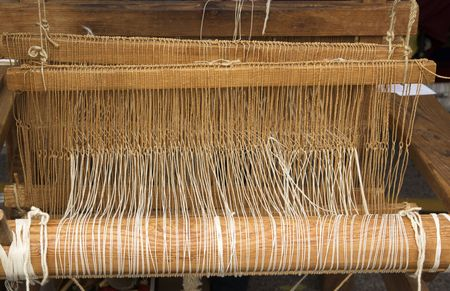 Native American wooden loom photo