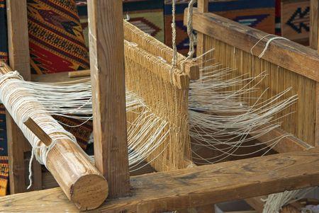 loom: Native American wooden loom Stock Photo