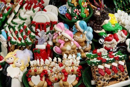 Colorful ceramic Christmas decoration