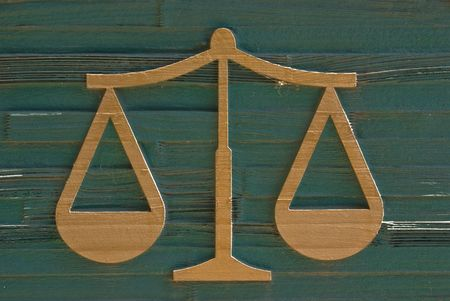 conveniences: Law symbol on grunge wooden board   Stock Photo