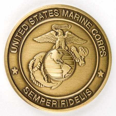 Marine corps medal - isolated on white   photo