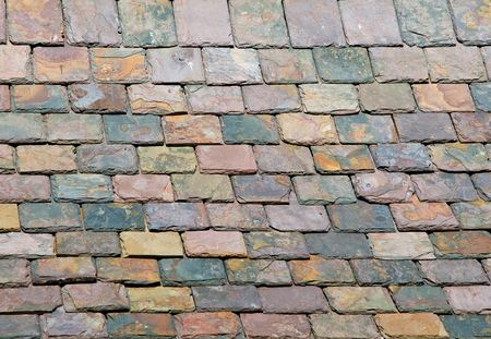 roof tiles: Slate roof details -closeup background, texture Stock Photo