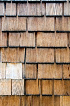 shingle: Wooden shingle wall - bacground, texture