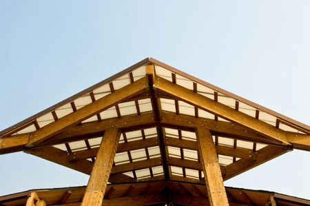 south lake tahoe: Architectural details of modern building - South Lake Tahoe, California Stock Photo