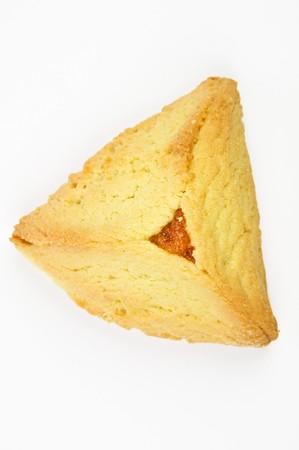 hamantashen: Hamantashen pastry with apricot for celebration of the Jewish Purim festifal Stock Photo
