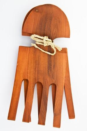 caoba: Conjunto de caoba ensalada retro horquillas