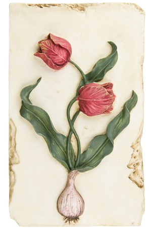 Vintage painted ceramic home decoration in form of tulip photo