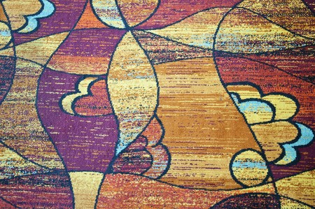 Closeup of modern carpet with abstract pattern