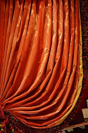 Traditional red curtain Stock Photo - 4562988