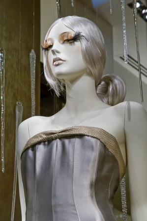 Mannequin in boutique window