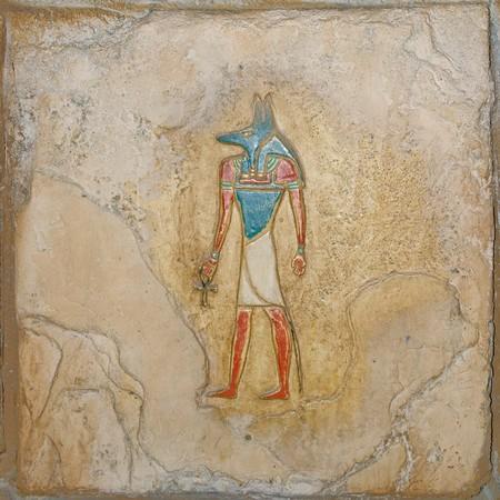 Réplica de los antiguos egipcios pintados de socorro Foto de archivo - 4563035