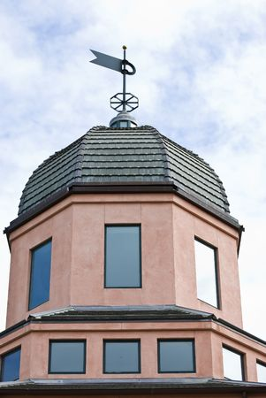 Tower with weathercock - architectural details photo