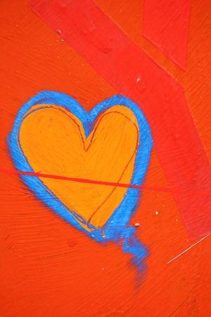 hart: Urban graffiti in form of hart Stock Photo