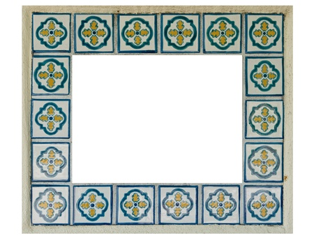 Colorful Spanish Style Ceramic Tiles Frame Stock Photo, Picture And ...