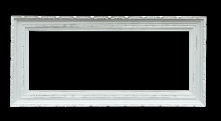 Wooden photo frame - isolated on black background