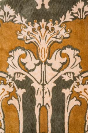 rug texture: Art nouveau style wool rug - closeup background, texture